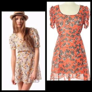UO Pins and Needles Floral Babydoll Dress